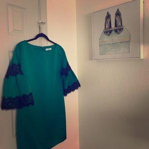 Badgley Mishka Emerald Green Dress Size Small